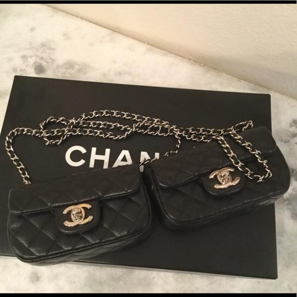 CHANEL Bags   Authentic Double Messenger Bag Runway   Poshmark 460cbdc16f